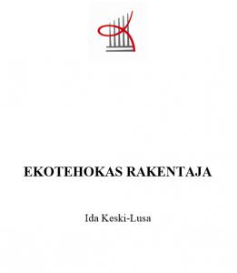 Ida Keski-Lusa - Ekotehokas Rakentaja